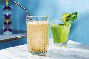 a glass of beer on a table: 30 Healthy Smoothies For Breakfast On-the-Go