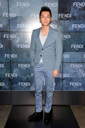 MILAN, ITALY - JANUARY 19:   Li Chen attends the Fendi show as a part of Milan Menswear Fashion Week Fall Winter 2015/2016 on January 19, 2015 in Milan, Italy.  (Photo by Venturelli/Getty Images For Fendi)