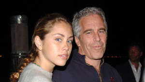 NEW YORK, NY - SEPTEMBER 7: Guest and Jeffrey Epstein attend Imperia U.S. Launch Party at The Statue Of Liberty at Liberty Island on September 7, 2005 in New York City. (Photo by Billy Farrell/Patrick McMullan via Getty Images)