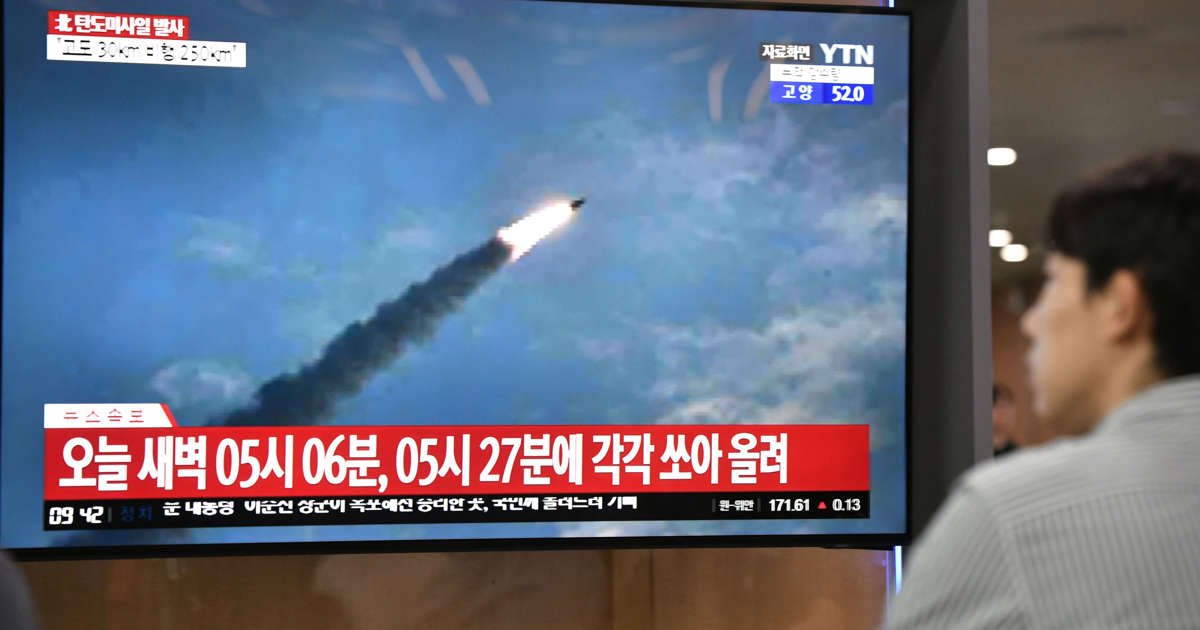 N.Korea fires two projectiles into sea off eastern cost - S.Korean military