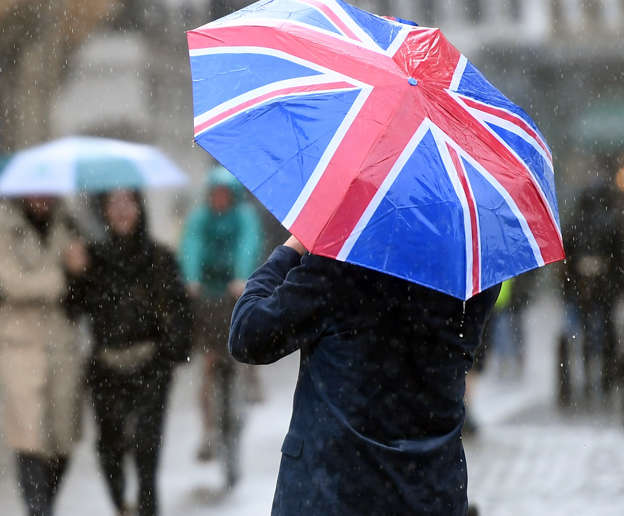 The Met Office issued weather warnings across the west of the country