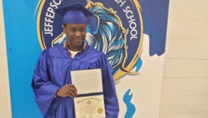 At age 54, man achieves dream of getting high school diploma