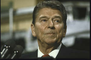 Former US President Ronald W. Reagan in Wisconsin
