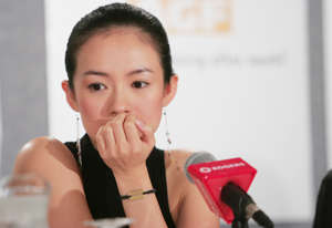 TORONTO - SEPTEMBER 11:   Actress Zhang Ziyi participates in a press conference for the film 'House Of Flying Daggers' at the Four Seaons Hotel, during the 2004 Toronto International Film Festival on September 11, 2004 in Toronto, Canada. (Photo by Evan Agostini/Getty Images)