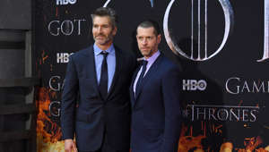 David Benioff and D. B. Weiss attend the 'Game Of Thrones' season 8 premiere on April 3, 2019 in New York City.