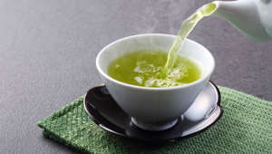 This is a photograph of Japanese green tea