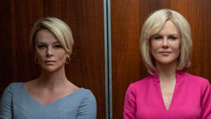 a group of people posing for a photo: Charlize Theron, Nicole Kidman take on Fox News in 'Bombshell'