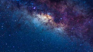 star in the milky way, astronaut background