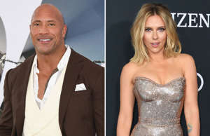 "HOLLYWOOD, CALIFORNIA - JULY 13: Dwayne Johnson attends the Premiere Of Universal Pictures' ""Fast & Furious Presents: Hobbs & Shaw"" at Dolby Theatre on July 13, 2019 in Hollywood, California. (Photo by Jon Kopaloff/Getty Images); US actress Scarlett Johansson arrives for the World premiere of Marvel Studios' 'Avengers: Endgame' at the Los Angeles Convention Center on April 22, 2019 in Los Angeles. (Photo by VALERIE MACON / AFP) (Photo credit should read VALERIE MACON/AFP/Getty Images)"