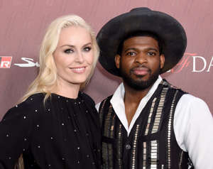 LOS ANGELES, CA - JULY 18:  Lindsey Vonn and P.K. Subban arrive at the Sports Illustrated Fashionable 50 at The Sunset Room on July 18, 2019 in Los Angeles, California.  (Photo by Gregg DeGuire/FilmMagic)