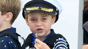 COWES, ENGLAND - AUGUST 08: Prince George attends the King's Cup Regatta on August 08, 2019 in Cowes, England. (Photo by Karwai Tang/WireImage)