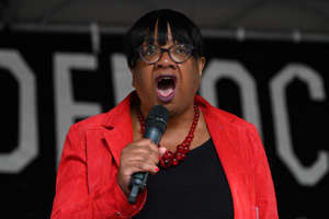 Britain's opposition Labour party MP Diane Abbott attends an anti-government protest calling for the Prime Minister's resignation, outside Downing Street in central London on September 7, 2019. - Britain's upper house on Friday gave final approval to a law that would force Boris Johnson to delay Brexit, in a fresh setback for the British Prime Minister who is struggling in his bid to call an early election. (Photo by DANIEL LEAL-OLIVAS / AFP)        (Photo credit should read DANIEL LEAL-OLIVAS/AFP/Getty Images)