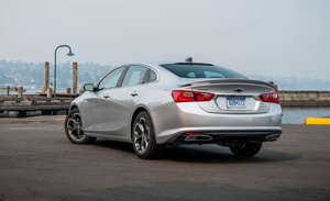 a car parked in a parking lot: Shock: The Malibu's new CVT Makes it Better