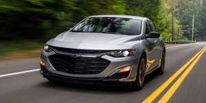 a car driving on a road: It's rare that a continuously variable automatic transmission is good—it's even rarer for it to improve a vehicle. The 2019 Chevrolet Malibu 1.5T's CVT is both.