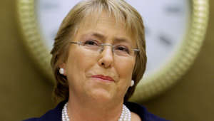 Geneva, SWITZERLAND: Chilean President Michelle Bachelet addresses a special session of the United Nations (UN) Human Rights council 04 June 2007 in Geneva. Bachelet is on a European tour. AFP PHOTO / FABRICE COFFRINI (Photo credit should read FABRICE COFFRINI/AFP/Getty Images)