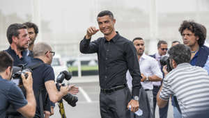 TURIN, PIEDMONT, ITALY - 2018/07/16: Cristiano Ronaldo arrives and visits the  J Village. (Photo by Stefano Guidi/LightRocket via Getty Images)