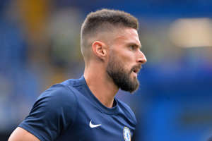 LONDON, ENGLAND - AUGUST 18: Olivier Giroud of Chelsea ahead of the Premier League match between Chelsea FC and Leicester City at Stamford Bridge on August 18, 2019 in London, United Kingdom. (Photo by Plumb Images/Leicester City FC via Getty Images)