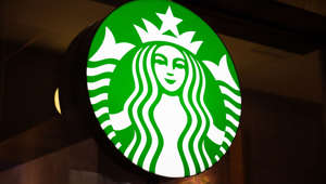GUANGZHOU, GUANGDONG, CHINA - 2019/10/03: American coffee company and coffeehouse chain, Starbucks logo seen in Guangzhou. (Photo by Alex Tai/SOPA Images/LightRocket via Getty Images)