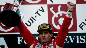 Ayrton Senna, Grand Prix of Japan, Suzuka, 24 October 1993. (Photo by Paul-Henri Cahier/Getty Images)