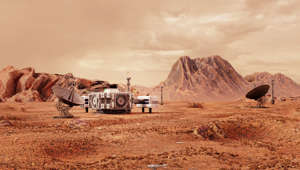 research station on planet Mars