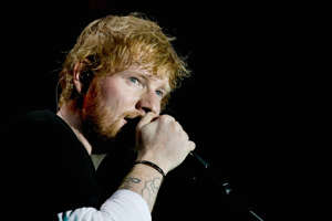 British singer-songwriter Ed Sheeran performing in Moscow