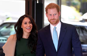 Britain's Prince Harry, Duke of Sussex (R), and his wife Meghan, Duchess of Sussex attend the annual WellChild Awards in London on October 15, 2019. - WellChild is the national charity for seriously ill children and their families. The WellChild Awards celebrate the inspiring qualities of some of the country's seriously ill young people and the dedication of those who care for and support them. (Photo by TOBY MELVILLE / POOL / AFP) (Photo by TOBY MELVILLE/POOL/AFP via Getty Images)