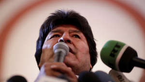Bolivia's President and presidential candidate Evo Morales of the Movement Toward Socialism (MAS) speaks after the results for the first round of the country's presidential election were announced, in La Paz, Bolivia October 20, 2019. REUTERS/Ueslei Marcelino