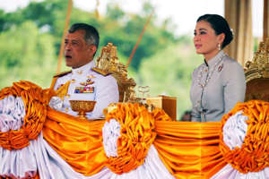 The annual Royal Ploughing Ceremony in central Bangkok