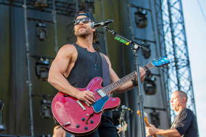 Singer and musician Kip Moore performs at Gorge Amphitheatre on August 02, 2019 in George, Washington.