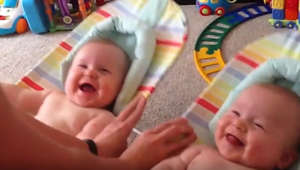 These twins' laughter can bring a smile to anyone!