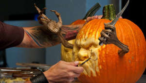 Meet the world's most amazing pumpkin carver