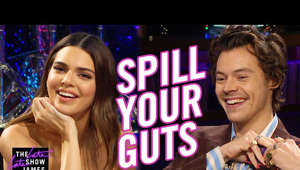 Harry Styles et al. posing for the camera: Late Late Show guest host Harry Styles challenges Kendall Jenner to a game of Spill Your Guts or Fill Your Guts, in which the two ask each other very personal questions and face a choice: answer truthfully or eat whatever is in front of you. Will cod sperm and a salmon smoothie force them to spill their guts?  More Late Late Show: Subscribe: http://bit.ly/CordenYouTube Watch Full Episodes: http://bit.ly/1ENyPw4 Facebook: http://on.fb.me/19PIHLC Twitter: http://bit.ly/1Iv0q6k Instagram: http://bit.ly/latelategram  Watch The Late Late Show with James Corden weeknights at 12:35 AM ET/11:35 PM CT. Only on CBS.  Get new episodes of shows you love across devices the next day, stream live TV, and watch full seasons of CBS fan favorites anytime, anywhere with CBS All Access. Try it free! http://bit.ly/1OQA29B  --- Each week night, THE LATE LATE SHOW with JAMES CORDEN throws the ultimate late night after party with a mix of celebrity guests, edgy musical acts, games and sketches. Corden differentiates his show by offering viewers a peek behind-the-scenes into the green room, bringing all of his guests out at once and lending his musical and acting talents to various sketches. Additionally, bandleader Reggie Watts and the house band provide original, improvised music throughout the show. Since Corden took the reigns as host in March 2015, he has quickly become known for generating buzzworthy viral videos, such as Carpool Karaoke.""