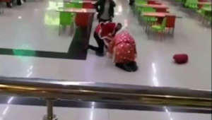 Santa brawl breaks out in Russia mall