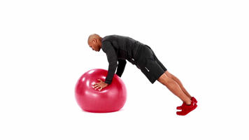 Angle-Based Images: Swiss Ball Pushup Plus Video