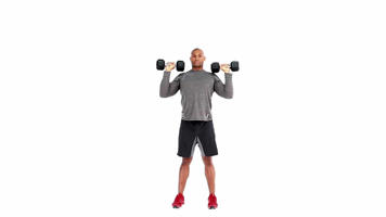 Angle-Based Images: Alternating Dumbbell Shoulder Press Video