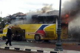 Deadly bus bombing in Taba.