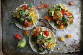 Fresh Corn and Summer Squash Tacos