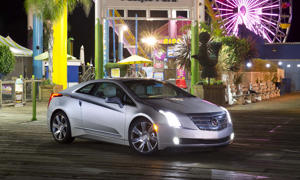 2014 Cadillac ELR<br>82 MPGe<br>Price: Starting at $75,000<br>The ELR is basically the Cadillac version of Chevrolet's Volt, featuring the same innovative powertrain. But this is a Cadillac and it clearly looks the part with LED headlights, 20-inch wheels and styling cues that fit with the rest of the luxury brand's lineup. Inside it's the same story, with leather, wood and carbon fiber trim throughout, as well as a Bose 10-channel audio system. Four different modes are selectable by the driver, providing different levels of performance vs. efficiency.