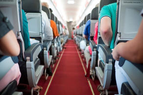 Seat and walk way in airplane - Air Transportation