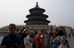 China sees sharp fall in tourism // China sees sharp fall in tourism (AP Photo)
