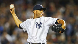 Mariano Rivera of the New York Yankees pitches against the Tampa Bay Rays in the eigth inning during their game on September 26, 2013 at Yankee Stadium in the Bronx borough of New York City.