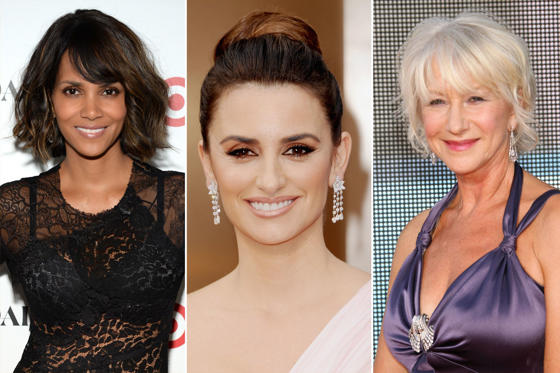 Slide 1 of 16: (From left) Halle Berry, Penelope Cruz and Helen Mirren