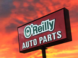 O'Reilly Auto parts store sign