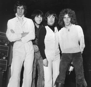 The Who, from left to right; Pete Townshend, John Entwistle (1944 - 2002), Keith Moon (1947 - 1978) and Roger Daltrey, Feb. 14, 1969.