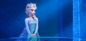 "This image provided by Disney shows a teenage Elsa the Snow Queen, voiced by Idina Menzel, in a scene from the animated feature ""Frozen."" Although the animated film opened late in 2013, the story of Elsa, Anna, Olaf, Kristoff and Sven easily outpaced other vote-getters like ""Sherlock"" star Benedict Cumberbatch, TV guru Shonda Rimes, musicians Beyonce and Pharrell Williams for entertainer of the year. ""Frozen"" has earned Disney more than $1.27 billion at the box office worldwide, becoming the most successful animated movie of all time. Its signature song ""Let It Go"" won an Oscar and a national touring live version on ice has been a huge draw. (AP Photo/Disney)"