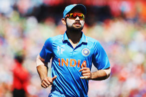 Virat Kohli of India fields during the 2015 ICC Cricket World Cup match between Ireland and India at Seddon Park on March 10, 2015 in Hamilton, New Zealand.