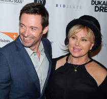 "Hugh Jackman and Deborra-Lee Furness attend a screening of ""Dukale's Dream"" in New York."