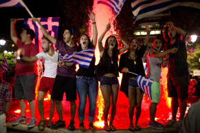 Athens sends shockwaves through the European Union by delivering an emphatic 'No' to more austerity and crippling cuts.