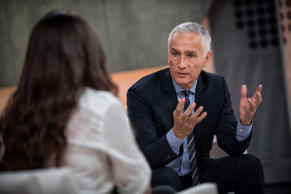 Univision news anchor Jorge Ramos at the Univision studios in Miami, Florida on November 14th, 2014. Ramos taping his Sunday show on the studio floor.