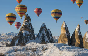 Hot Air Ballooning in Cappadocia,Nevsehir,Central Anatolia.